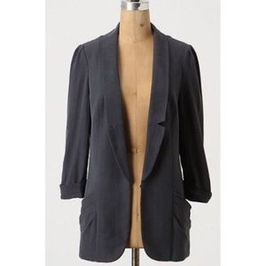 Anthro Coquille Lolling Long Gray Blazer 6